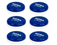 6 x Pack Nivea Creme Soft Moisturising Moisturiser Cream for Face Hand Body 50ml