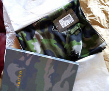 Authentic New w/ Box Valentino 100% Wool Army Camo Scarf Women/Men Made in Italy