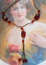 Joli collier Négligé ancien Napoléon III perles grenats