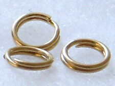 14k Gold Filled 5mm 20pcs Split Jump Rings Findings New U.S.A.