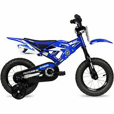 "Yamaha Moto BMX 12"" Blue 2-4 wheels Children Bicycle Steel Boys Kids Bike Childs"