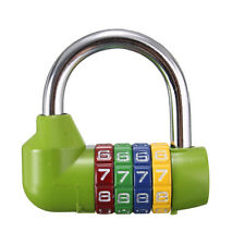 5 Dial Digit Number Code Password Combination Padlock Security Safety Lock Green