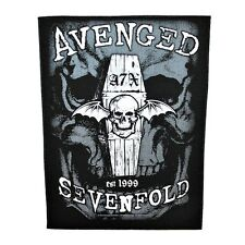 "XLG ""Avenged Sevenfold"" A7X Deathbat Sew-On Back-Patch Metal Fan Jacket Applique"