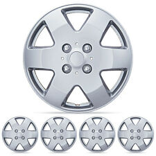 "4 PC Set 15"" Silver Hubcaps Wheel Cover OEM Replacement ABS Skin Cap"