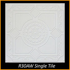 Ceiling Tiles Glue Up Styrofoam 20x20 R30A White Pack of 8