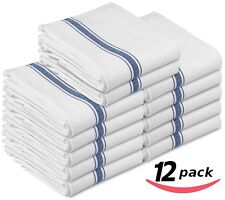 Towels Cotton Kitchen Restaurant Hotel Dining Cleaning Dish Cloths Set of 12 NEW