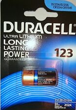 1 x Duracell CR123 3V ULTRA LITHIUM PHOTO CAMERA BATTERY DLCR123