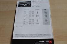 135195) Citroen C5 Kombi - Preise & t. Daten & Ausstattungen - Prospekt 03/2002