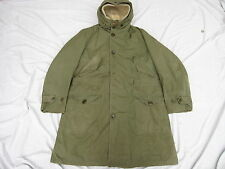 Vtg Korean War US Navy Deck Coat Jacket/Parka Sz M Fully Lined Hooded