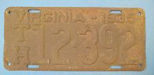 1935 Virginia License Plate cheap