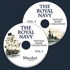 The Royal Navy Vintage Books Collection 210 PDF E-Books on 2 DVD's Ships,Medals