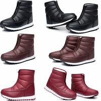 Ladies Shiny Thick Sole Fur Shoes Flat Womens Winter Snow Warm Ankle Boots Size