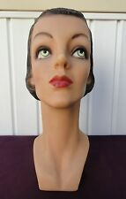Decoeyes Mannequin Head/Bust Vintage 1930's Style Store Hat Display Alice