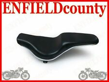 SEAT DUAL SLIM WITH CHROME EDGING ROYAL ENFIELD BULLET MOTORCYCLE @CAD
