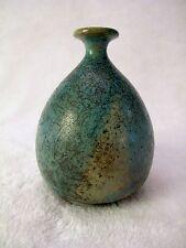 SHAWN RASSEKH Studio Pottery BRITISH COLUMBIA Raku Vase TURQUOISE Horse Hair