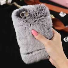 Luxury Winter Warm Soft Furry Rabbit Fur Fashion Case Cover for iPhone&Samsung