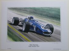 POSTER ARTWORK PRINT / DESSINS F1  EAGLE GURNEY 1967  30 x 40 cm by CLOVIS