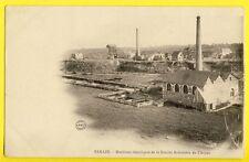 cpa RENAZÉ (Mayenne) Usine Factory MINES ARDOISIERES ANJOU PUITS Hts Fourneaux