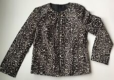 J CREW COLLECTION LEOPARD CALF HAIR MOTORCYCLE JACKET 0 ITEM 05173 RETAIL $2,500