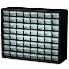 Tool Box 64 Drawer Plastic Parts Storage Hardware Garage Craft Cabinet Organizer