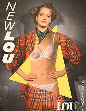 Publicité Advertising 1984  Lingerie LOU soutien gorge slip