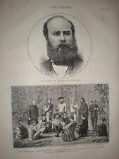 Garo Chiefs submit to British at Rongrengirri 1873 old print India