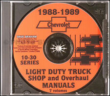 1988 Chevy Truck Shop Manual Pickup Suburban Blazer Van Chevrolet Repair Service