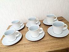 Denby White Tea Coffee Cup Saucer Set Mug Set Of Four 6 Espresso Cup