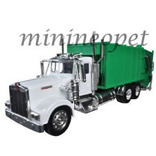 NEW RAY 10533 KENWORTH W900 GARBAGE TRUCK 1/32 DIECAST MODEL WHITE / GREEN