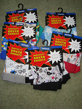 Pack Of 4, BNWT, Novelty, 100% Cotton, Boxer Shorts. (Designs May Vary) Size M.