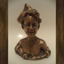 Vecchia scultura Scugnizzo stile liberty ottone/Rare old vintage brass sculpture