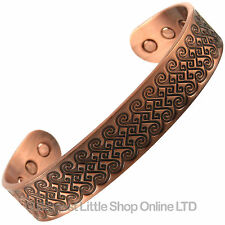 XL COPPER MAGNETIC BANGLE MULTI SCROLLS 6 Strong Magnets Health Rare Earth