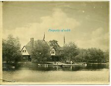 c.1909 Exquisite Original Photo ~ Boat Club at Upper Mystic Lake Winchester, MA