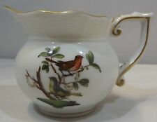 VINTAGE HEREND ROTHSCHILD SMALL MILK JUG BIRDS INSECTS BUTTERFLIES HUNGARY