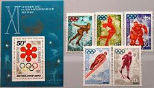 RUSSIA SOWJETUNION 1972 all issues Olympics München Sapporo Sport Medals MNH
