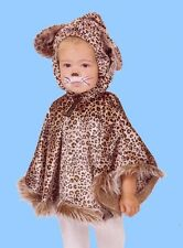 COSTUME CAPE CHAT CHATON LÉOPARD Panther avec PELUCHE Gr. 86-92-98-104 Cap chat