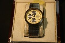 Daniel Mink Flagship 1900 Collection Men ' S Steel 18k Yellow Gold Master Chrono