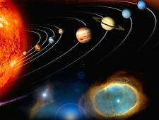 """Cosmos Solar System Space Fabric poster 32"""" x 24"""" Decor 03"""