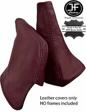 MAROON REAL LEATHER SHIFT BOOT & E BRAKE BOOT FITS TOYOTA SUPRA MK3 1986-1992