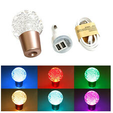 Universal BALL crystal bolle LED LUCE COLORATA AUTO manual gear shift knob JDM