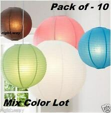 10PCs Pack Round Hanging Paper Ball Lantern Christmas Decoration Lamp