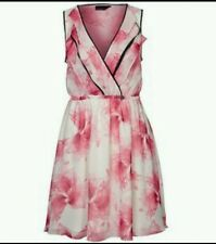 "GUESS Los Angeles ""Chaya"" pink floral dress Rrp£95 nwt size S uk 6/8 eu 36"