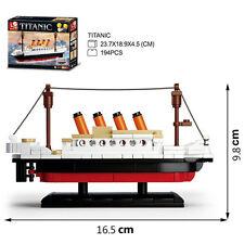 Titanic Small Style Sluban Ship Model DIY Building Blocks Toy Gift 194 PCS US
