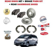 FOR TOYOTA PREVIA 2.0 D4D 2.4 VVTi 2001-2007 REAR BRAKE DISCS + PADS + SHOES SET