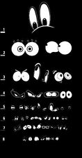 Framed Print - Cartoon Eye's Eye Chart (Picture Poster Art Optician Glasses Test