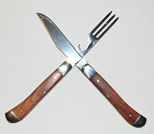 MAXAM Hobo Tool Pocket Knife and Fork - Walnut Handles FAST SHIPPING!
