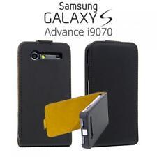 Handy Tasche Flip Style Case Samsung i9070 Galaxy S Advance Schwarz Schutzhülle