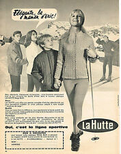PUBLICITE ADVERTISING 044   1965   LA HUTTE   vetements de ski