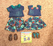 RARE American Girl Bitty Baby Twins Beach Fun Tropical Girl Boy Outfit w/ Shoes