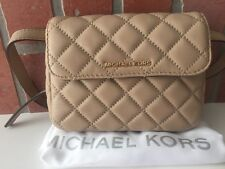 Michael Kors SLOAN 30T6GSLN1L Belt Quilted Bag In Bisque, NWT